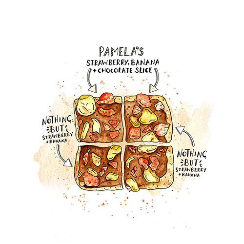 Pamela's Strawberry, Banana and Chocolate Slices