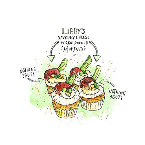 Libby's Savoury Cheese Veggie Packed Muffins